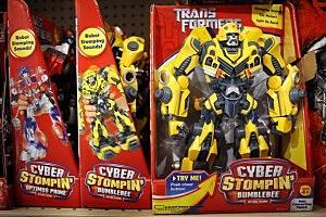 Yellow Transformer Toy