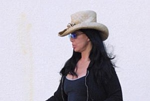Cher Seen Here Sporting A Cowboy Hat