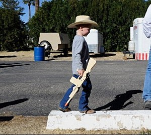 The Cowboy Kid with His Deadly 77 cal Rubber-band Gun