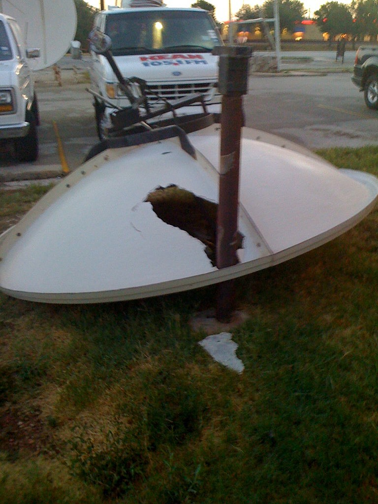 KEAN Satellite Dish Destroyed By High Winds