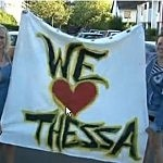 We Love Thessa Banner At Her Party