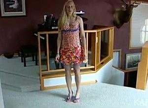 Tara Frey Modeling The Starbust Wrapper Prom Dress
