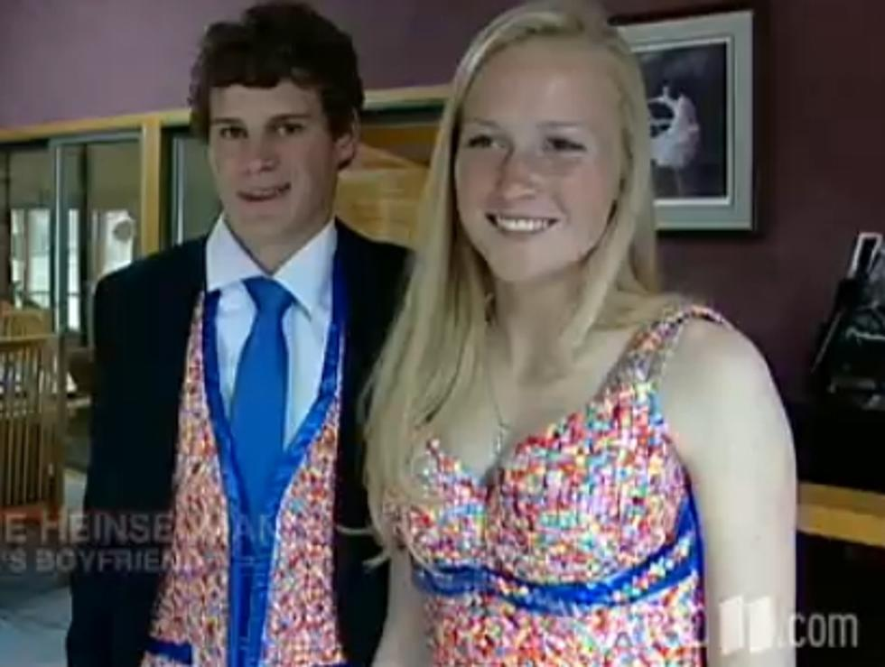 Wisconsin Teen Makes Prom Dress From Candy Wrappers [VIDEO]