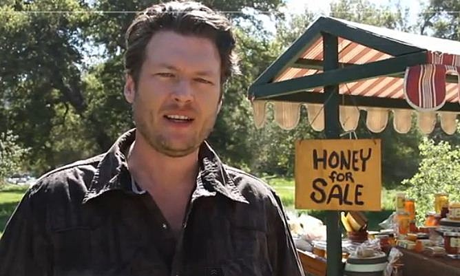 Blake Shelton On The Set Shooting Video