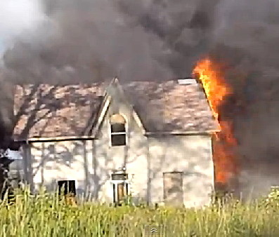 Landscape Catches House On Fire