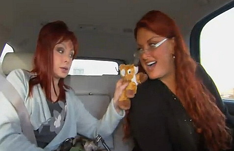 The Judds Riding in a Car