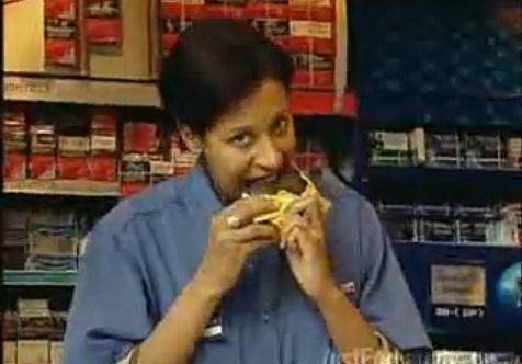 Convenience Store Clerk Eats 1