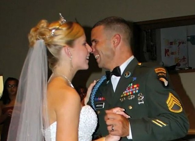 Soldier and Wife Dancing
