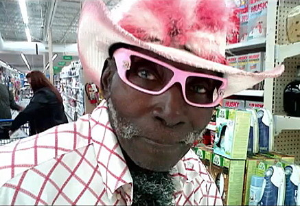 Wal-Mart People Pink Hatted Cowboy