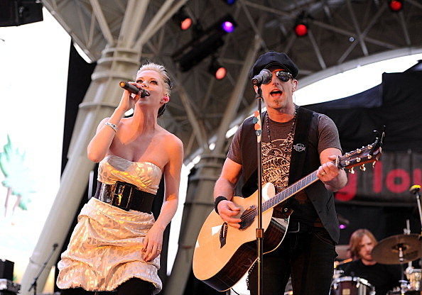 Thompson Square performing on stage