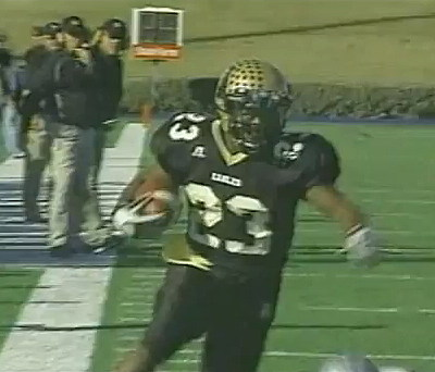 Abilene High School Football Player Going In For A Touchdown