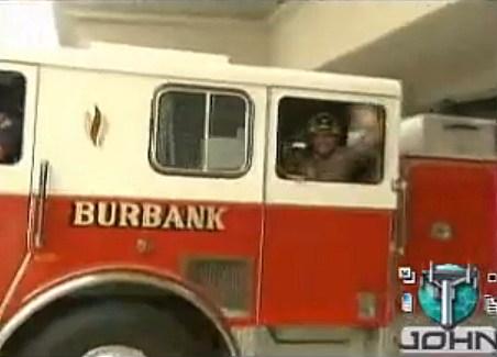 Firefighter Ross Rides in a Firetruck