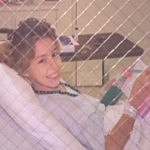 10 Year old Lindsey Wilkerson in hospital bed
