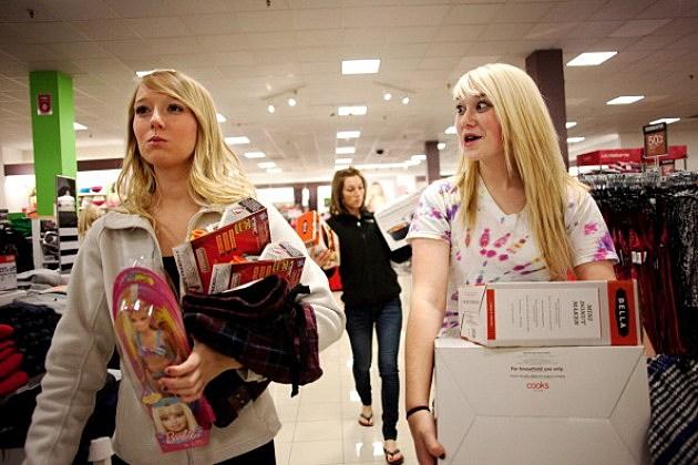 Sisters Holiday Shopping at WalMart