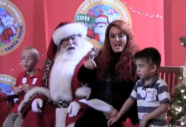 Wynonna and Santa at Make A Wish