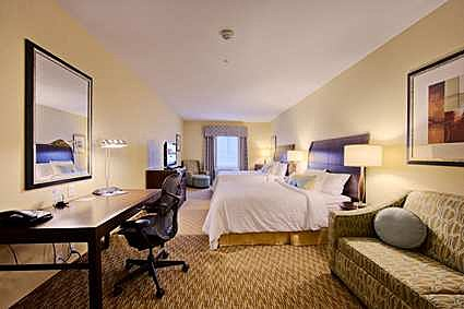 Hilton Garden Inn's king size bed room