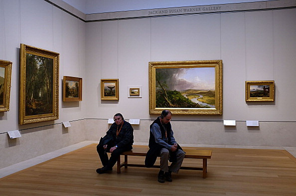 People viewing Art at a Museum