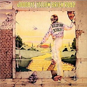 LP cover Goodbye Yellow Brick Road Elton John