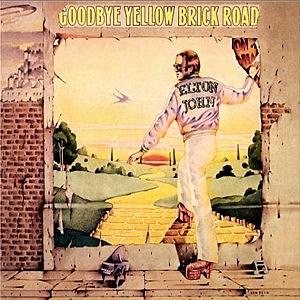 LP cover Goodbye Yellow Brick Road Elton John