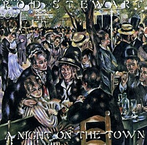LP cover Rod Stewart A Night On The Town