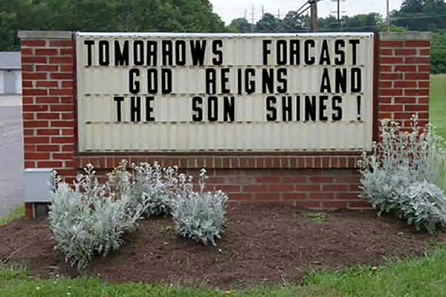 Church Gods reign forecast