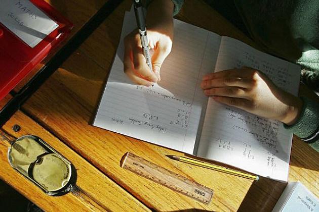 kid doing schoolwork