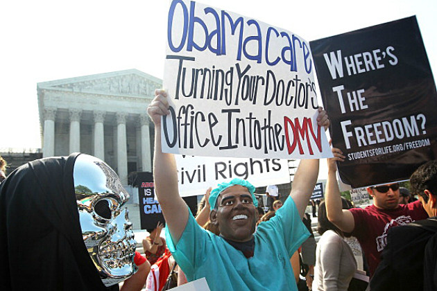 Obamacare protester