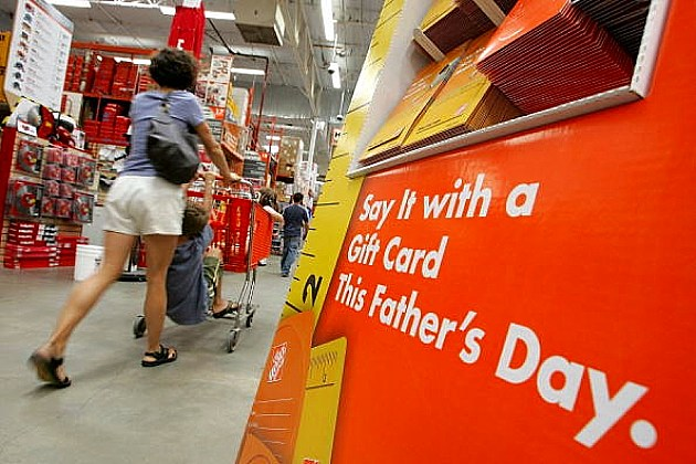 Fathers Day sign at The Home Depot