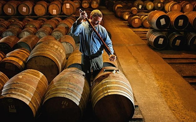 Whiskey from a barrel being tested