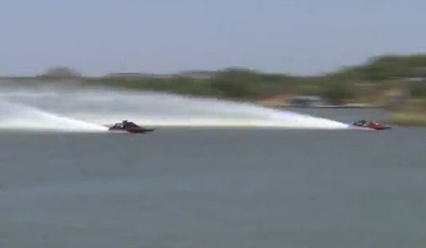 side by side drag boat races
