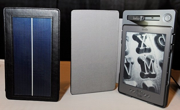 SolarKindle with solar lighted book covers for Kindle e-readers