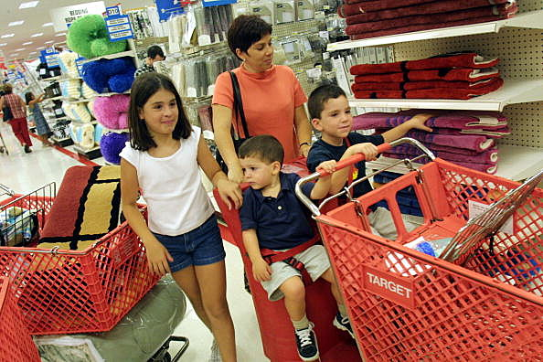 Mom and Kids shopping tax free weekend