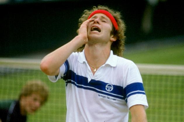 John McEnroe - frustrated