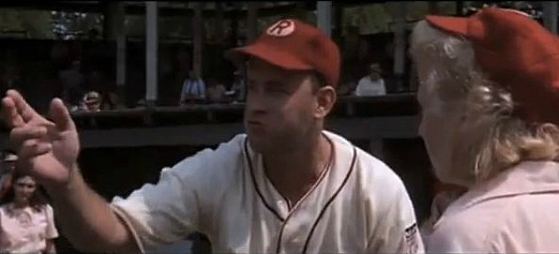 "Tom Hanks in ""A League of Their Own"""