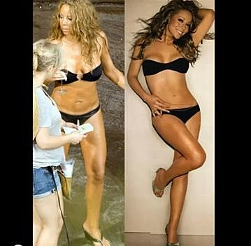 mariah carey photoshopped