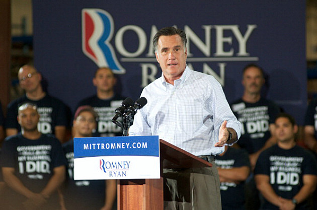 2012 Republican Presidential Candidate Mitt Romney