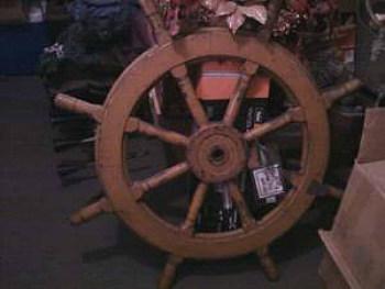 100 Year Old Ship Wheel