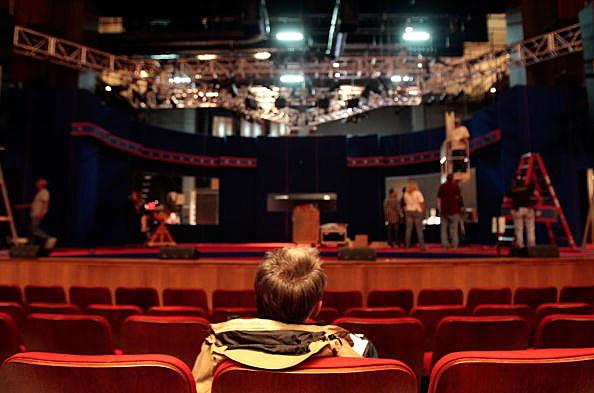 man in theatre