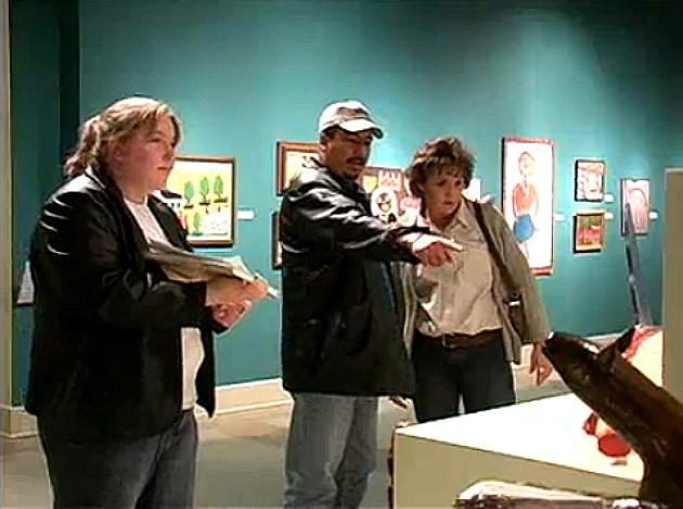 Artists talking about Art Walk