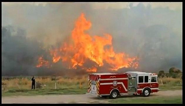Firetruck at wildfires at Possuim Kingdom