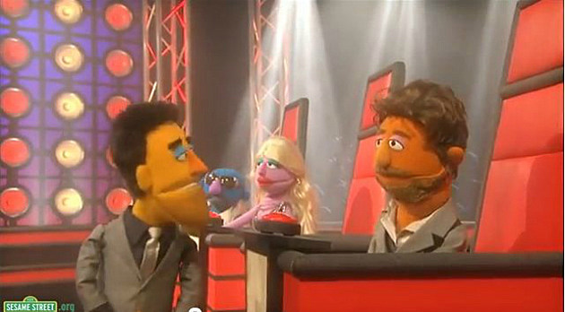 Sesame Street spoofs The Voice