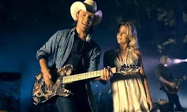 Justin Moore and girl