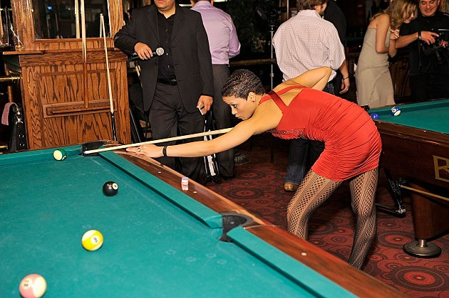Billiards athlete Yomaylin Feliz attends RackStarz 2012