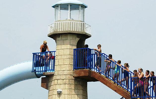 Waterpark Fun waiting in line