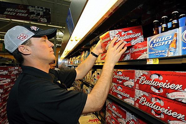 Grabbing beer at wal-mart