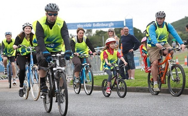 Thousands of participants enjoyed the sights bike riding