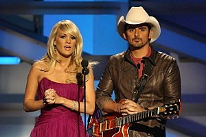 Carrie Underwood and Brad Paisley perform