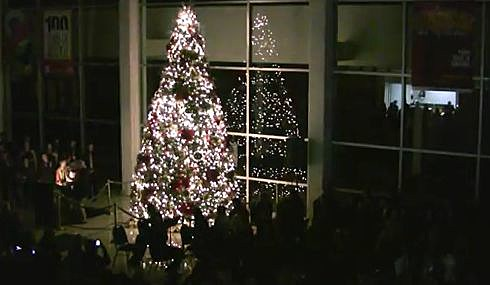 christmas tree lighting at civic center