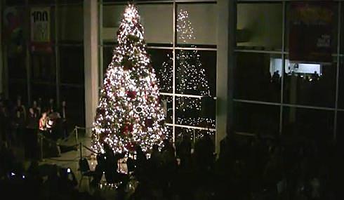 christmas tree lighting at civic center