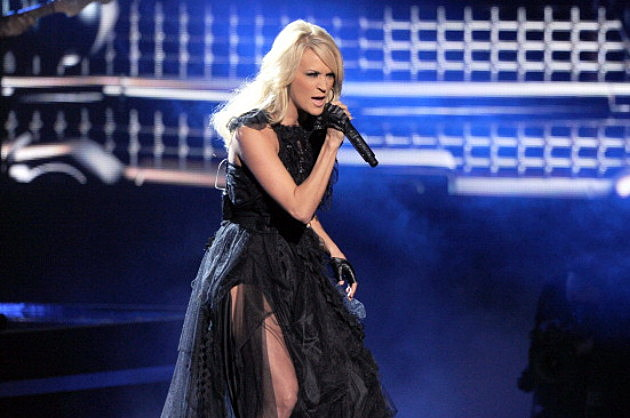Singer Carrie Underwood performs onstage